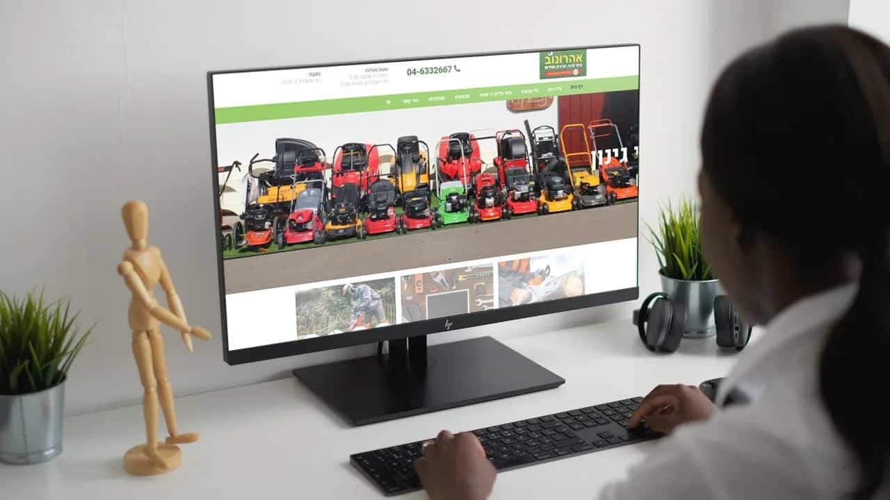 בניית אתר וקידום בשביל אהרונוב - ציוד טכני, מכירה ושירות