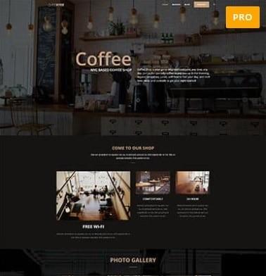 תבנית וורדפרס בעברית בית קפה