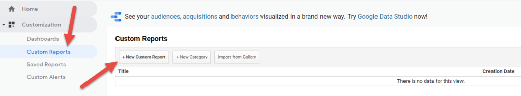 שימוש בדוחות של גוגל אנליטיקס