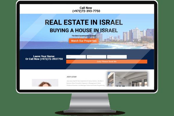 """בניית אתרים להשקעות נדל""""ן בישראל"""