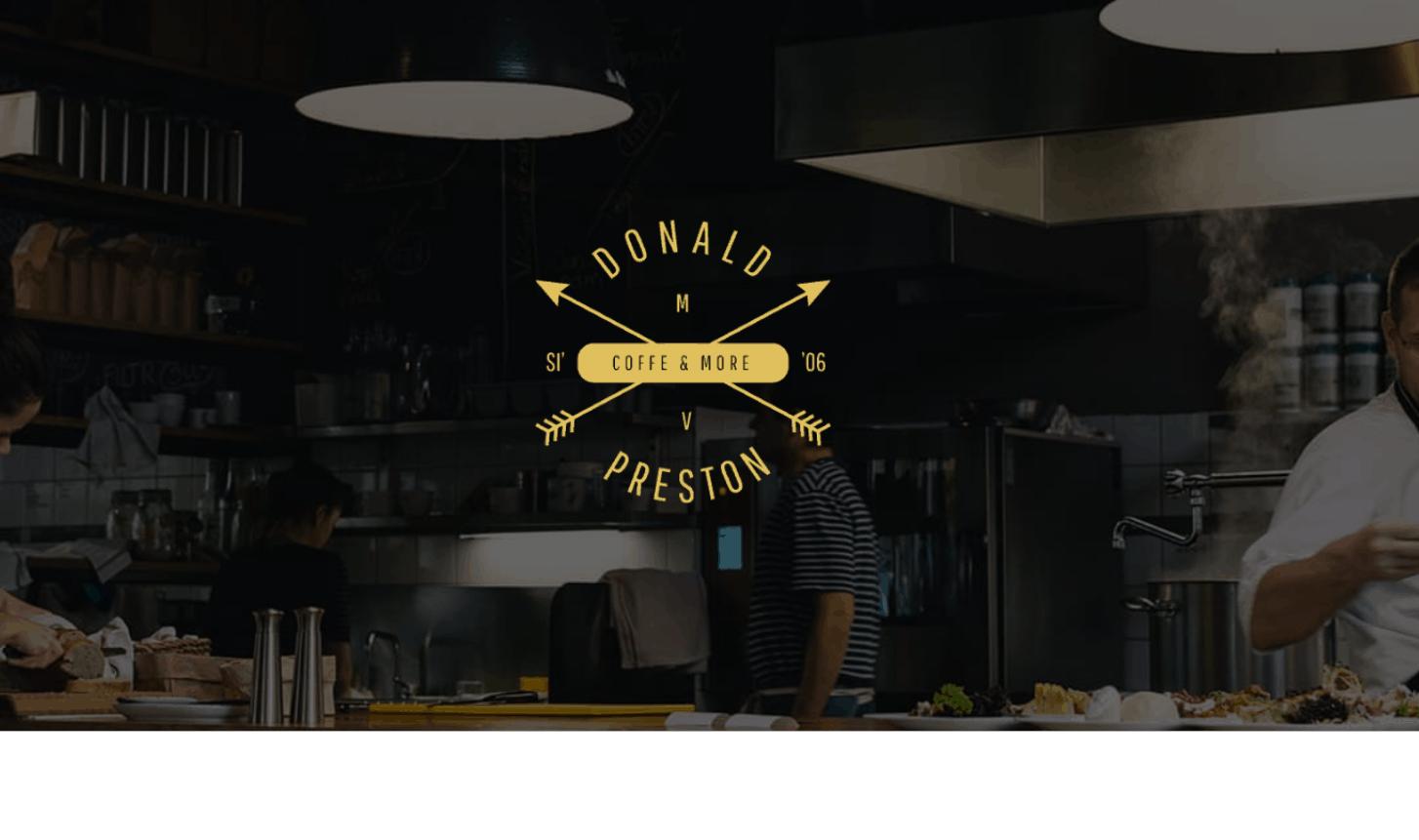 תבנית אלמנטור - מסעדה