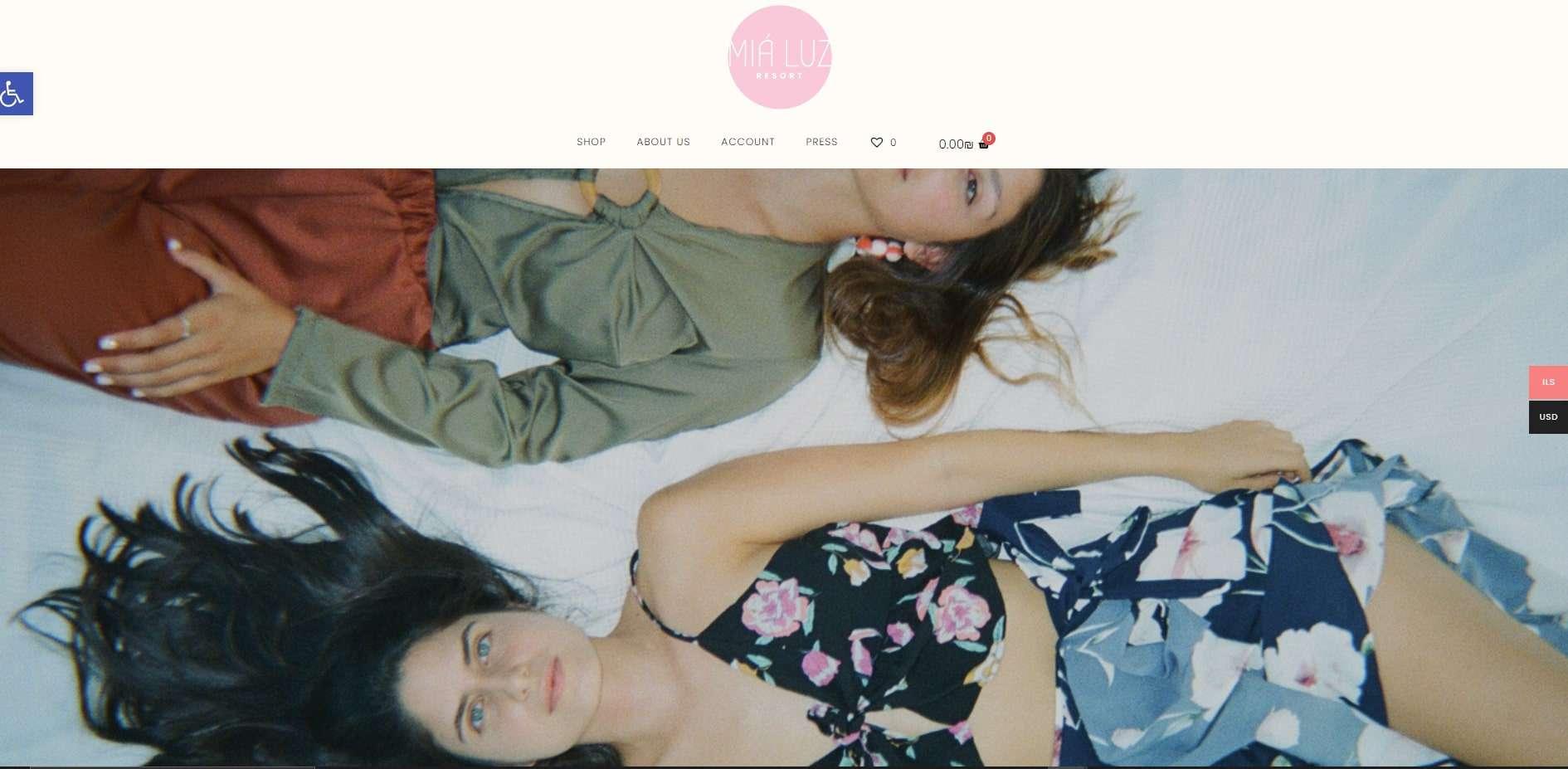 בניית אתר חנות וירטואלית למיה לוז Mia Luz