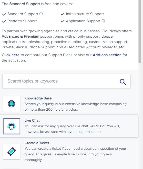 cloudways support התמיכה של קלאודוויז